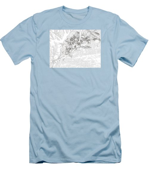 Spring Blossums Men's T-Shirt (Athletic Fit)