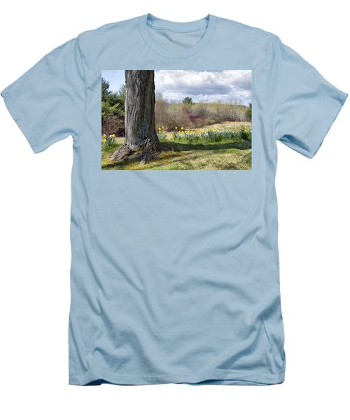 Spring Daffodils  Men's T-Shirt (Athletic Fit)