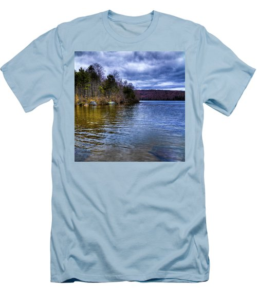 Spring Day On Limekiln Men's T-Shirt (Slim Fit) by David Patterson