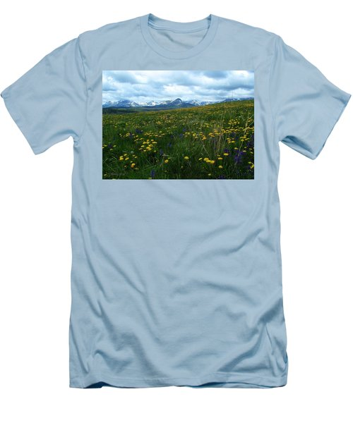 Spring Flowers On The Front Men's T-Shirt (Athletic Fit)