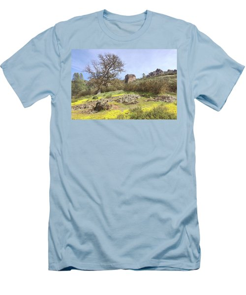 Men's T-Shirt (Slim Fit) featuring the photograph Spring In Pinnacles National Park by Art Block Collections
