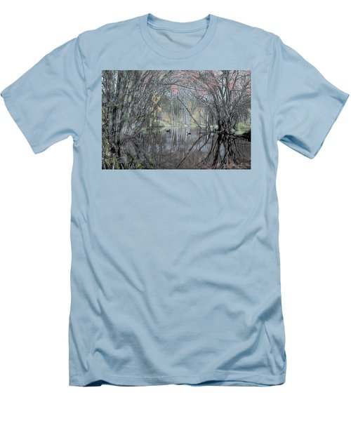 Men's T-Shirt (Slim Fit) featuring the digital art Spring On The Backwater by John Selmer Sr