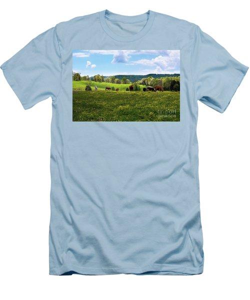 Spring Pastureland Men's T-Shirt (Athletic Fit)