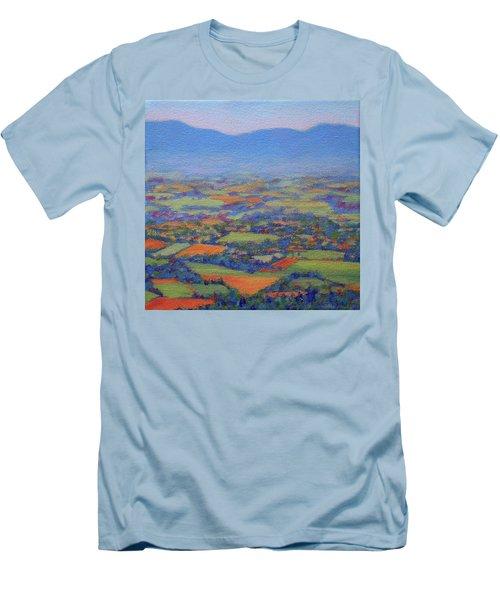 Spring Patchwork 2 Men's T-Shirt (Slim Fit) by Bonnie Mason