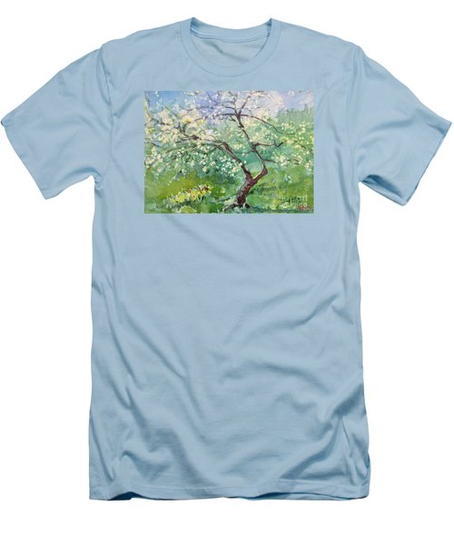 Spring Plum Men's T-Shirt (Slim Fit) by Elizabeth Carr