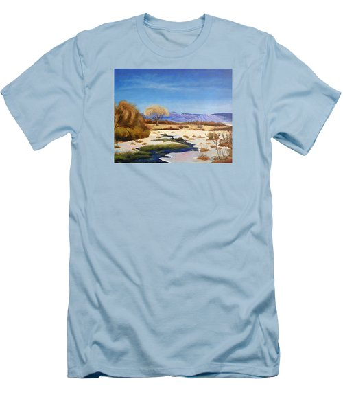 Spring Runoff Men's T-Shirt (Slim Fit) by Sherril Porter