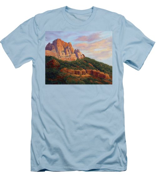 Springdale Sunset On Johnson Mountain Men's T-Shirt (Athletic Fit)