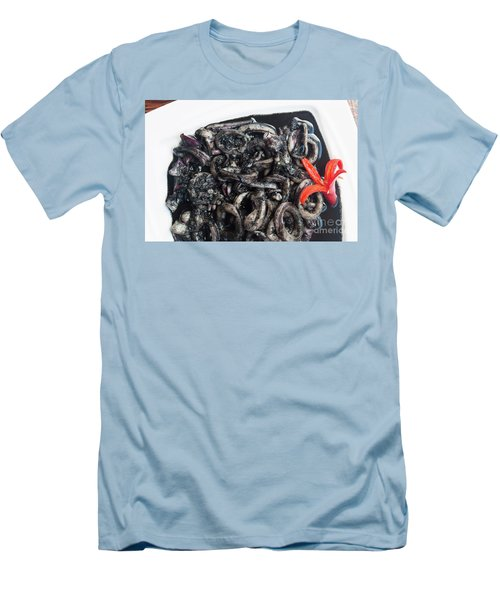 Men's T-Shirt (Slim Fit) featuring the photograph Squid In Ink by Atiketta Sangasaeng