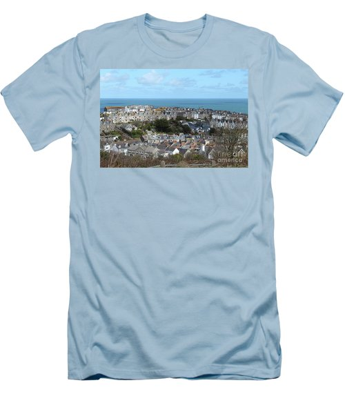 Men's T-Shirt (Slim Fit) featuring the photograph St Ives, Cornwall, Uk by Nicholas Burningham