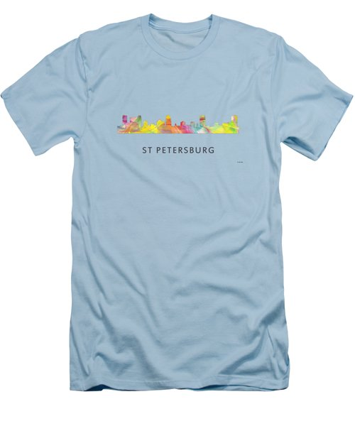 St Petersburg Florida Skyline Men's T-Shirt (Slim Fit) by Marlene Watson