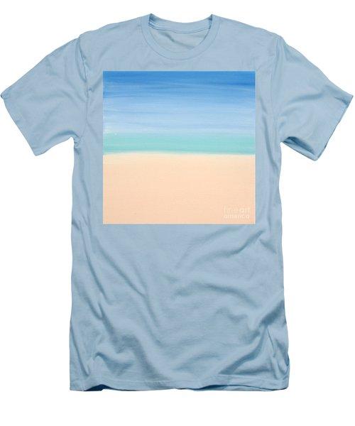 St Thomas #4 Seascape Landscape Original Fine Art Acrylic On Canvas Men's T-Shirt (Athletic Fit)