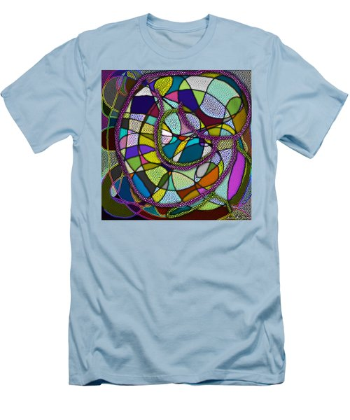 Men's T-Shirt (Athletic Fit) featuring the digital art Stained Glass Mother And Child by Iowan Stone-Flowers