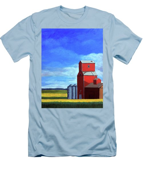 Men's T-Shirt (Slim Fit) featuring the painting Standing Tall by Linda Apple