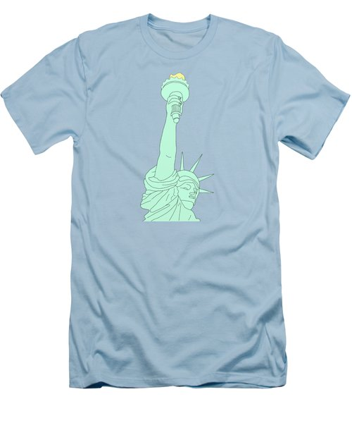 Statue Of Liberty Men's T-Shirt (Slim Fit) by Priscilla Wolfe