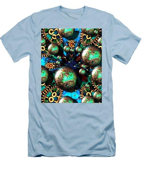 Steampunk Fractal 71216.4 Men's T-Shirt (Athletic Fit)