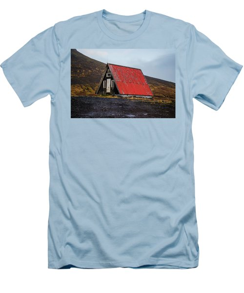 Steep Roof Barn Western Iceland Men's T-Shirt (Athletic Fit)
