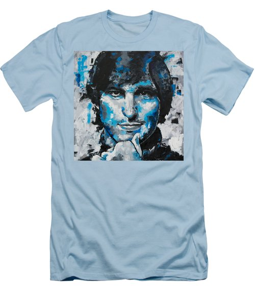 Men's T-Shirt (Slim Fit) featuring the painting Steve Jobs II by Richard Day