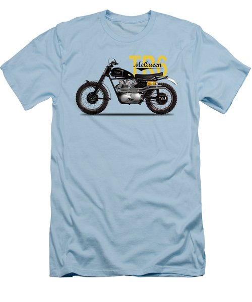 Steve Mcqueen Desert Racer Men's T-Shirt (Slim Fit) by Mark Rogan