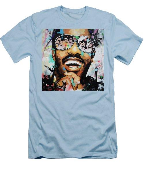 Stevie Wonder Portrait Men's T-Shirt (Slim Fit) by Richard Day