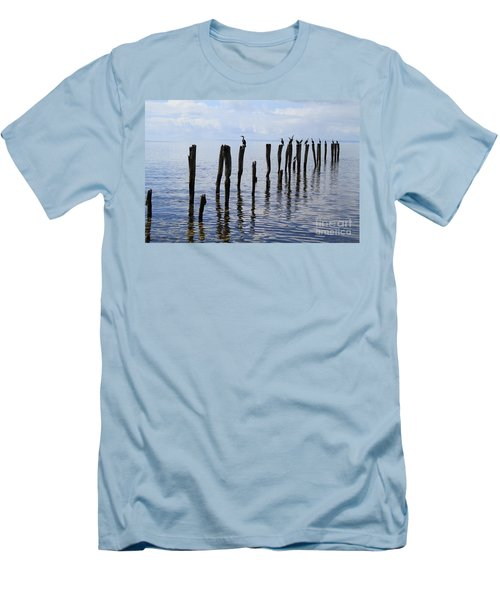 Sticks Out To Sea Men's T-Shirt (Athletic Fit)