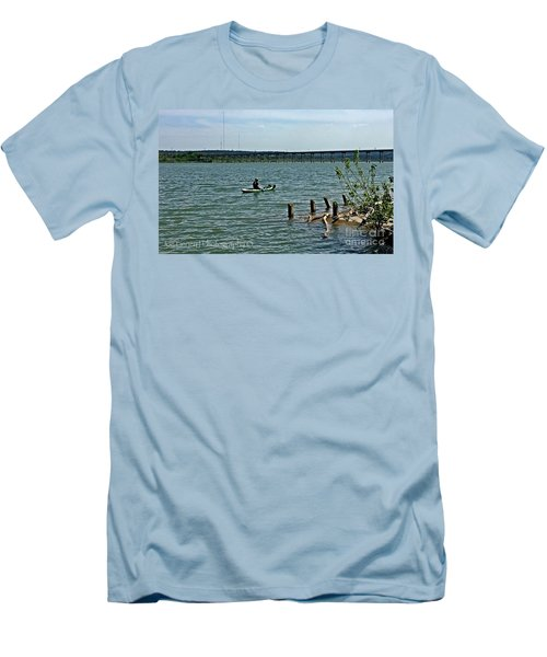 Men's T-Shirt (Slim Fit) featuring the photograph Stillhouse Lake Canoe - No.2016 by Joe Finney