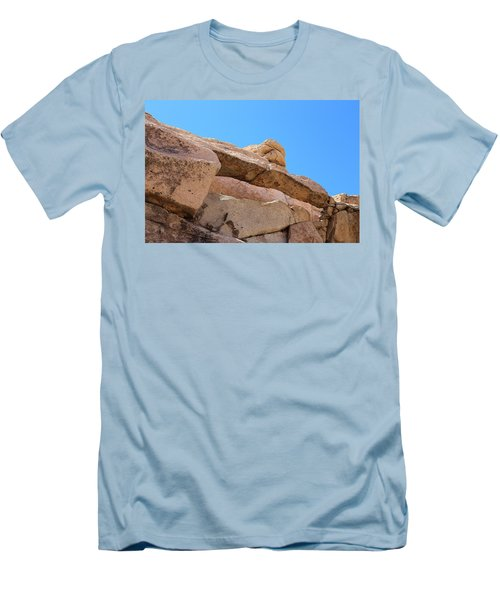 Men's T-Shirt (Slim Fit) featuring the photograph Stone  Arch In Joshua Tree by Viktor Savchenko