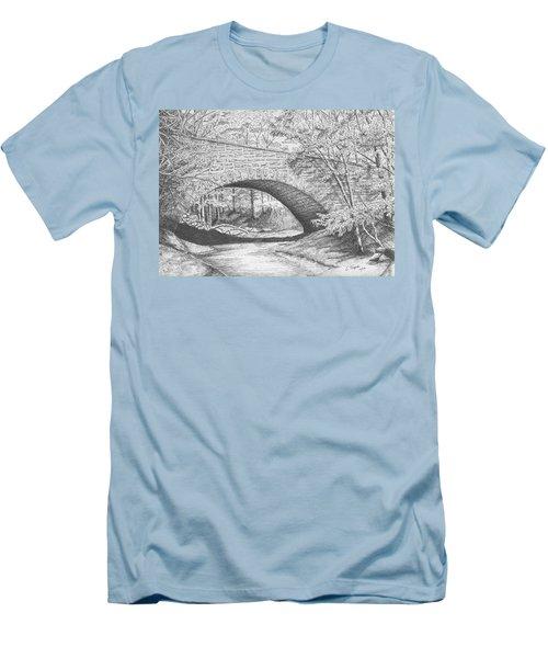 Stone Bridge Men's T-Shirt (Slim Fit) by Lawrence Tripoli
