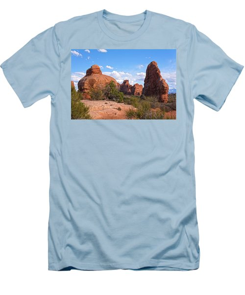 Stone Gods 0f Arches Men's T-Shirt (Slim Fit) by Angelo Marcialis