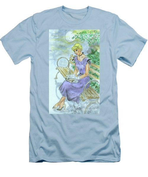 Men's T-Shirt (Slim Fit) featuring the painting Stood Up by P J Lewis