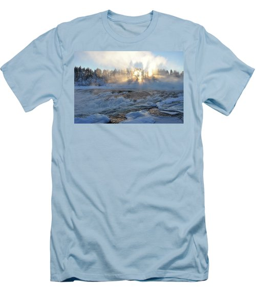 Storforsen, Biggest Waterfall In Sweden Men's T-Shirt (Slim Fit) by Tamara Sushko
