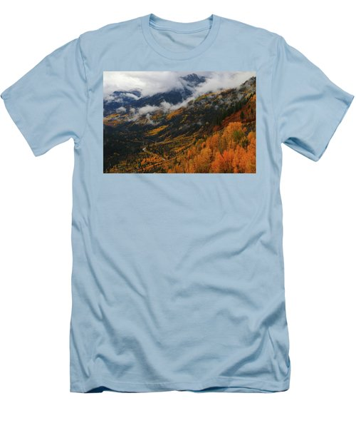 Men's T-Shirt (Slim Fit) featuring the photograph Storm Clouds Over Mcclure Pass During Autumn by Jetson Nguyen