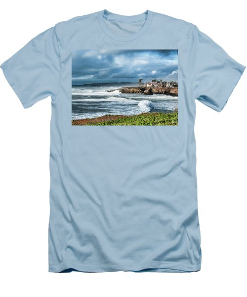 Storm Wave At Sunset Cliffs Men's T-Shirt (Athletic Fit)