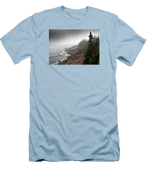 Stormy North Atlantic Coast - Acadia National Park - Maine Men's T-Shirt (Slim Fit) by Brendan Reals