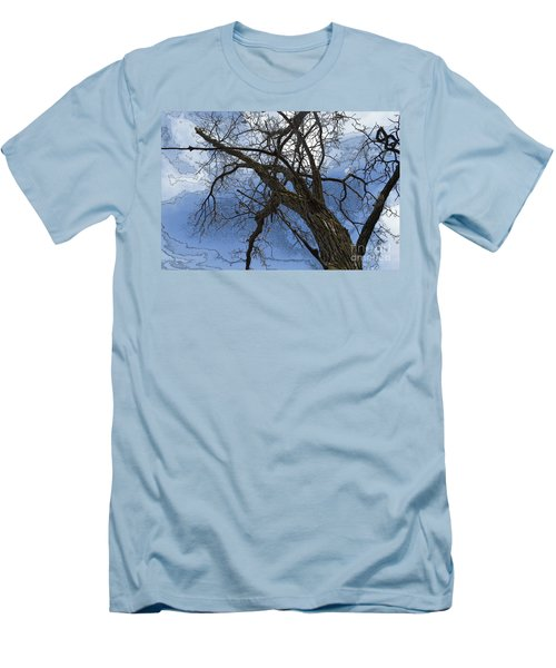 Stormy Sky Blue Men's T-Shirt (Athletic Fit)