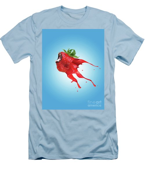 Men's T-Shirt (Slim Fit) featuring the photograph Strawberry by Juli Scalzi