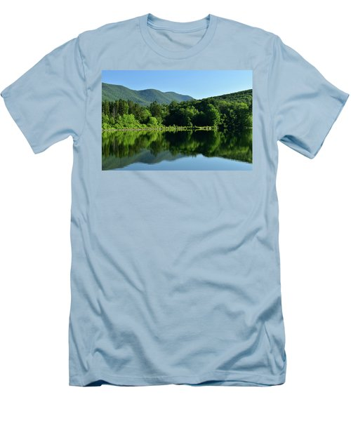Streak Of Light At The Lake Men's T-Shirt (Athletic Fit)