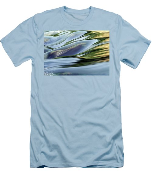 Stream 3 Men's T-Shirt (Slim Fit) by Dubi Roman
