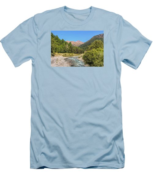 Men's T-Shirt (Slim Fit) featuring the photograph Streaming Through The Alps by Brent Durken