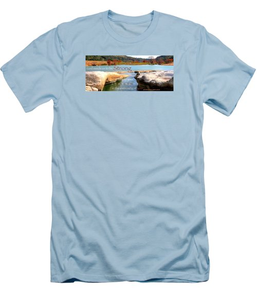 Strength Multiplied Men's T-Shirt (Slim Fit) by David Norman