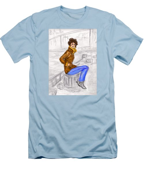 Strike A Pose Men's T-Shirt (Slim Fit) by Desline Vitto