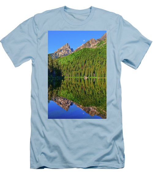 String Lake Morning Mirror Men's T-Shirt (Slim Fit) by Greg Norrell