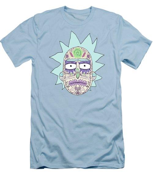 Sugar Skull Rick  Men's T-Shirt (Athletic Fit)