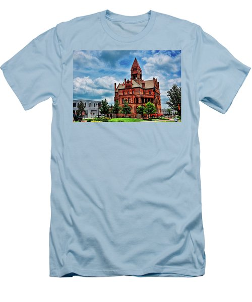 Sulphur Springs Courthouse Men's T-Shirt (Slim Fit) by Diana Mary Sharpton