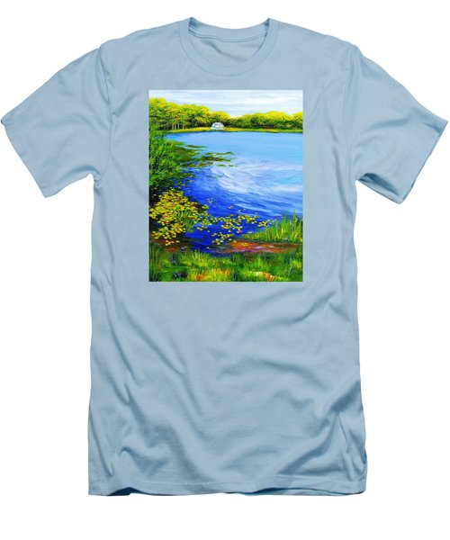 Summer At The Lake Men's T-Shirt (Slim Fit) by Anne Marie Brown