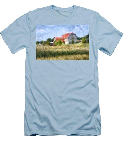 Summer Barn Men's T-Shirt (Slim Fit) by Francesa Miller