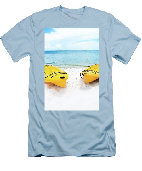 Men's T-Shirt (Slim Fit) featuring the photograph Summer Colors On The Beach by Shelby Young