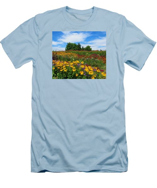 Men's T-Shirt (Slim Fit) featuring the photograph Summer Flowers In Pa by Jeanette Oberholtzer