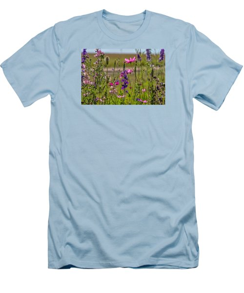 Summer Garden Men's T-Shirt (Slim Fit) by Alana Thrower