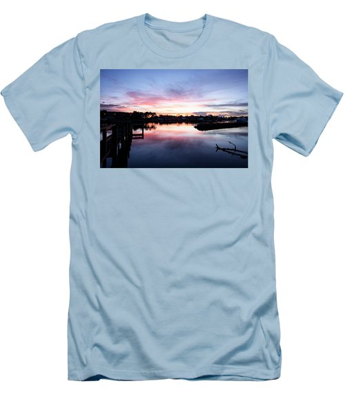 Men's T-Shirt (Slim Fit) featuring the photograph Summer House by Laura Fasulo