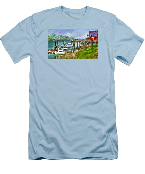 Men's T-Shirt (Slim Fit) featuring the digital art Summer In La'conner by Dale Stillman